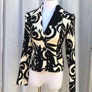Tracy Reese wool black and white jacket